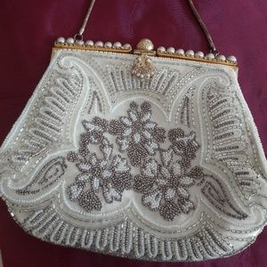 STUNNING VTG FRENCH MADE BEADED PURSE! MINT!!!